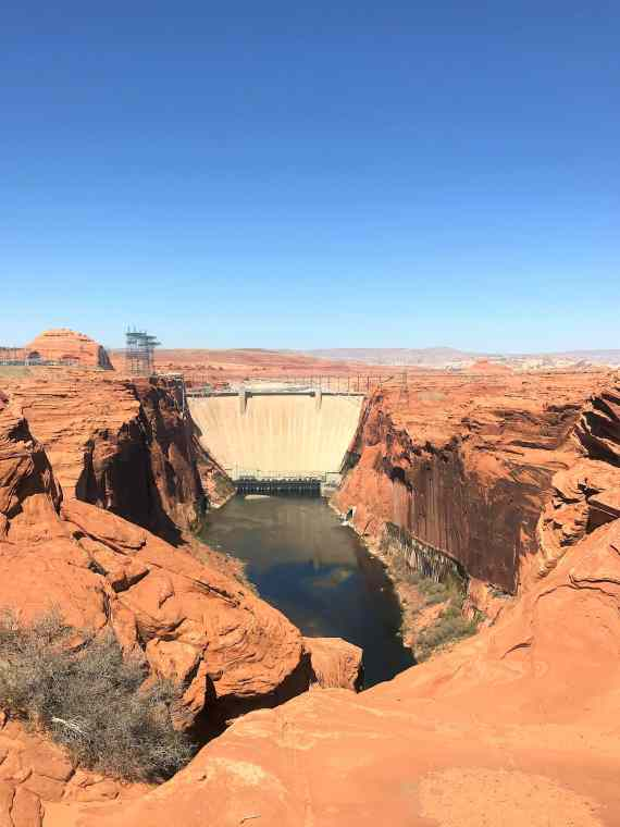 View of Glen Canyon Dam from Overlook