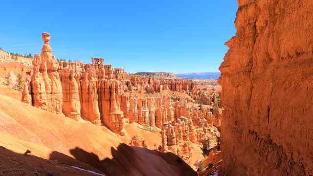 Thor's Hammer From Navajo Loop Trail from different view point. Best Hikes in Bryce Canyon National Park.