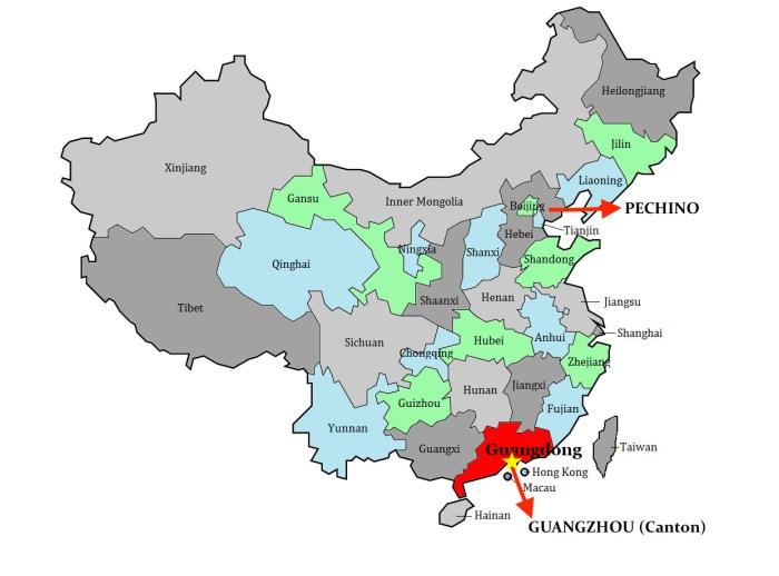 Guangzhou-Mappa Cina