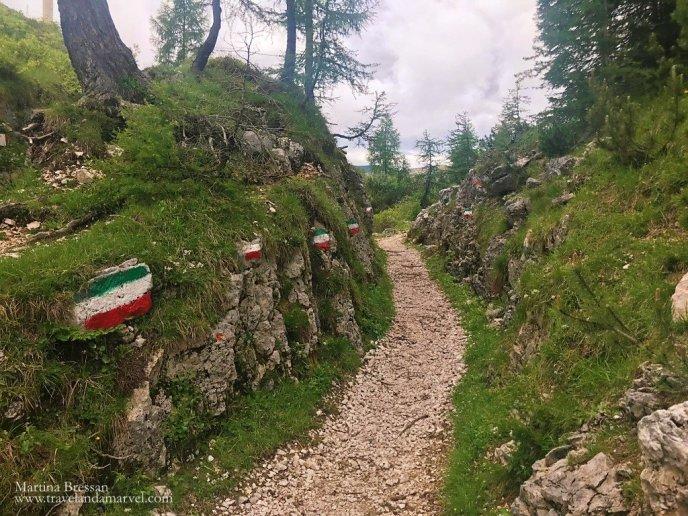 Escursione sul Monte Ortigara itinerario tricolore