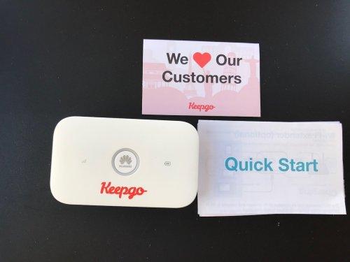 connessione internet in viaggio: Keepgo router wifi