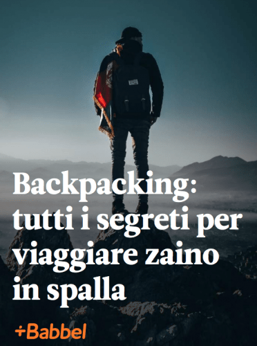 Backpacking-zaino in spalla