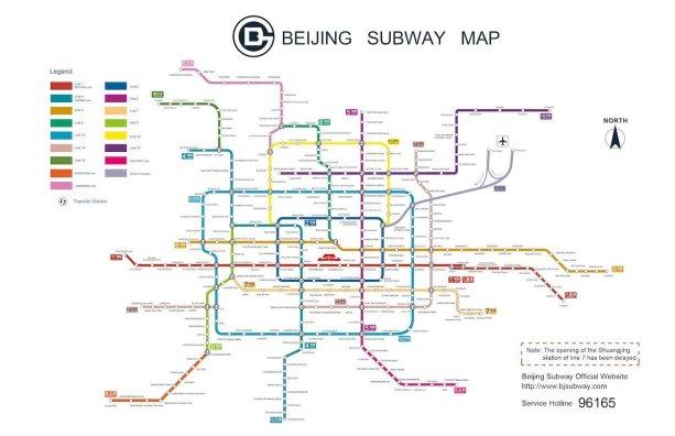Mappa metro Pechino