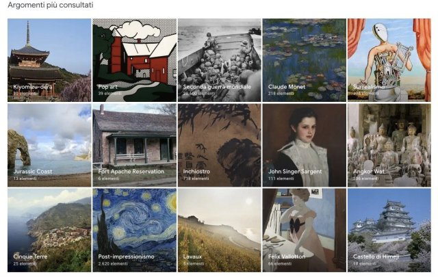 Google Arts & Culture- tour virtuale