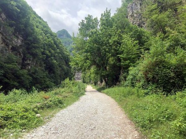 Calà del Sasso: prima parte del percorso