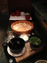 Preparing Kyoto tofu