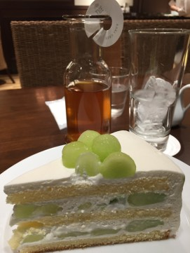 Seasonal Grape Cream Cake