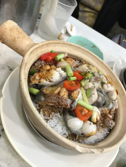 Claypot rice with eel