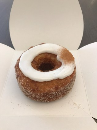 Peach cream cronut