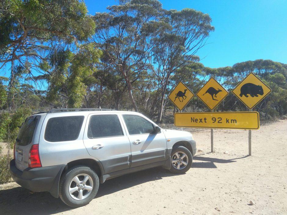 nullarbor signs Australie