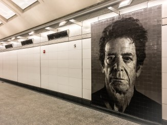 Mosaic portrait of the musician Lou Reed