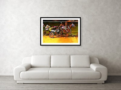 Harness Race Framed Print on the Wall