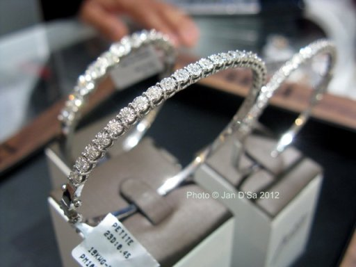 I fell in love with these 1, 3 and 5 carat mirage bangles