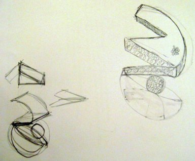 I liked this sketch and with a little help from Huda, I could make my 3D design. Photo © Jan D'sa 2012
