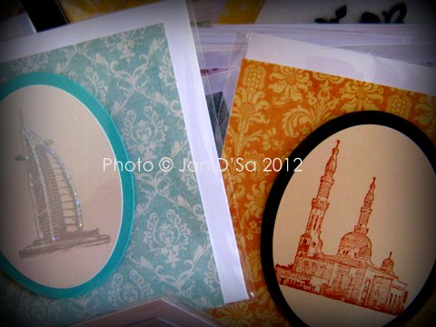 Bespoke Cards Dubai have a lovely collection of stamped designs with local UAE theme