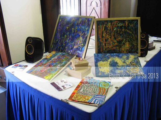 Some of my intuitive art and craft on display.