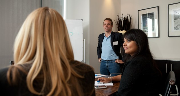 That's me. The CEO, Paul Coleman was talking about NLP. Great topic. Photo by Barry Morgan Photography