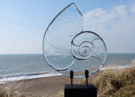 Ammonite Sculpture from the Cast Range. Photos © Amanda Heath