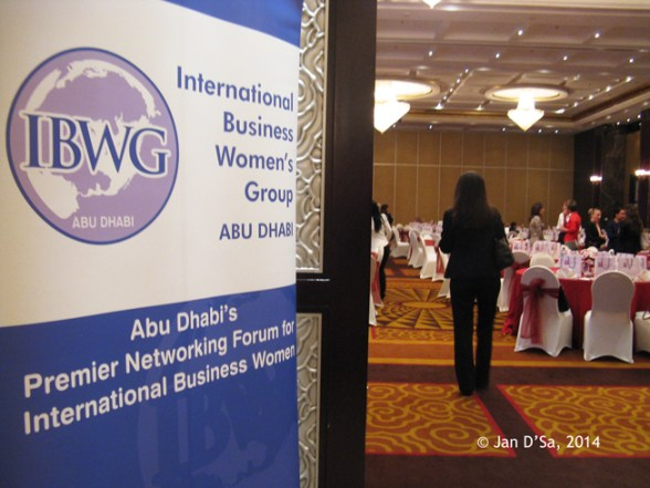 After picking up my back, I head into the grand conference room at Beach Rotana Hotel, Abu Dhabi. Photo © Jan D'Sa