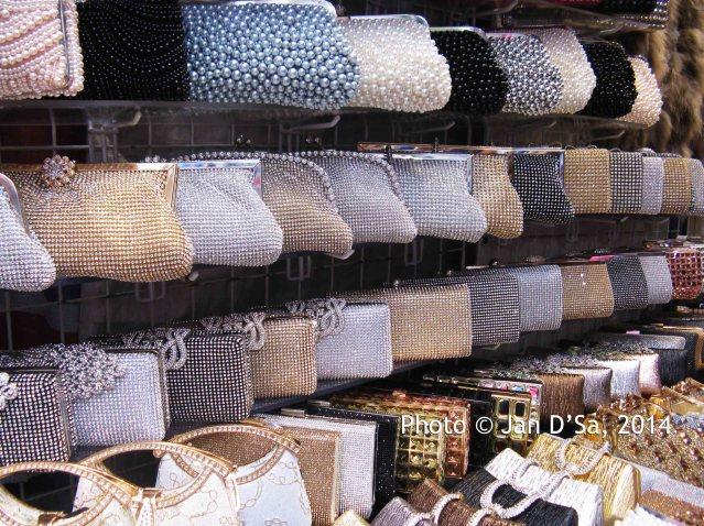 Glittery party purses
