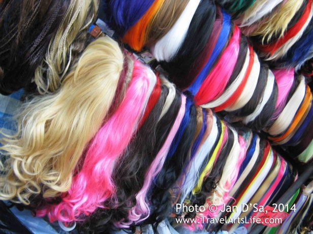 Now, I don't like wigs, but this made a colourful photograph.