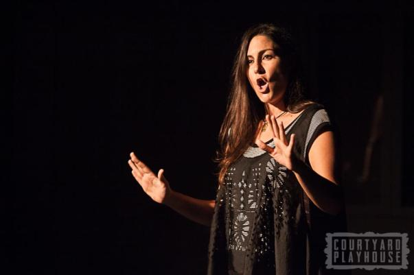 Powerful poetry by Zeina Hashem Beck. Photo © Tiffany Schultz & The Courtyard Playhouse