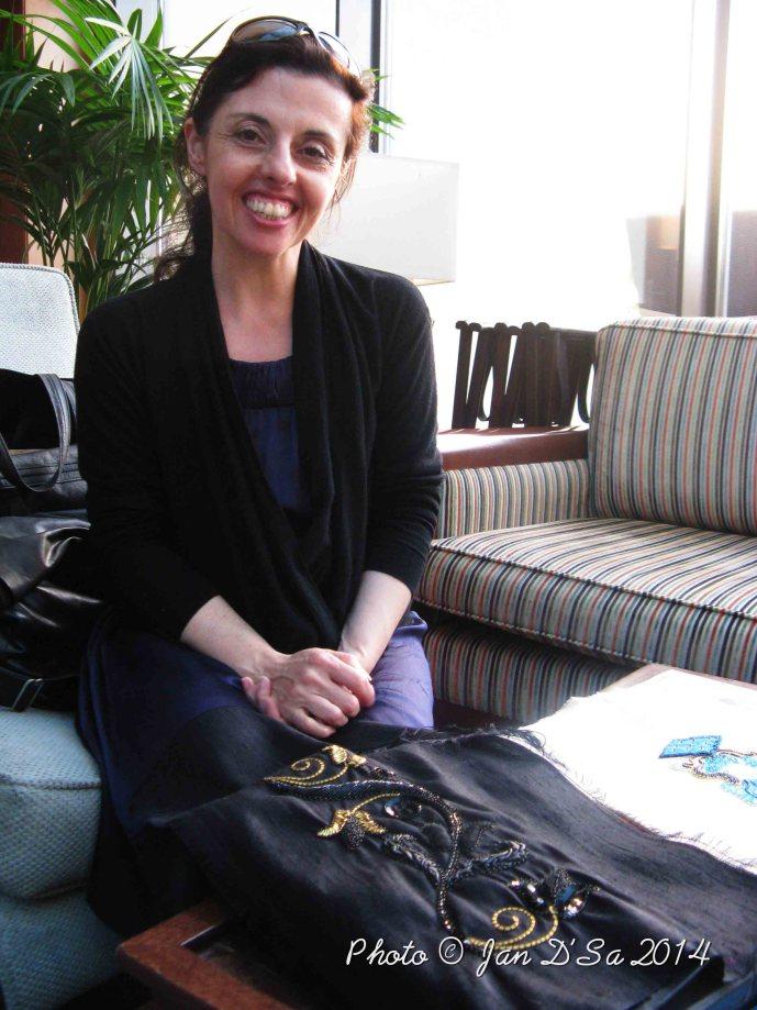 Elisabeth Roulleau - Sitting pretty at Plantation Lounge of Sofitel JBR, Dubai