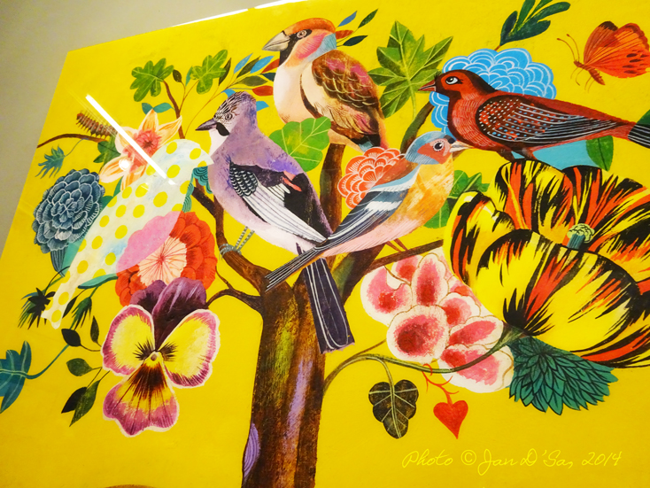 Olaf Hajek's work is bright, full of life and very detailed (can you spot the caterpillar?)
