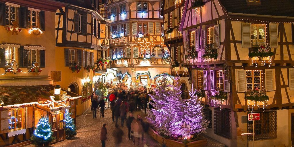 Magic Christmas Village in Colmar, France