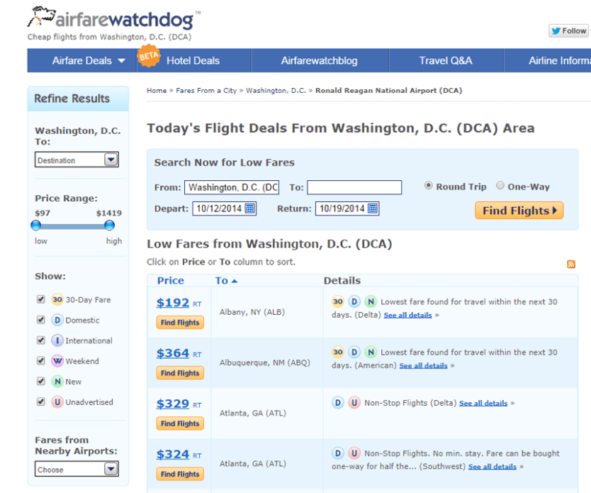 AirfareWatchdog giving you a unique perspective on last minute adventure.