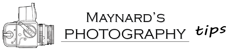 Maynards Photography Tips