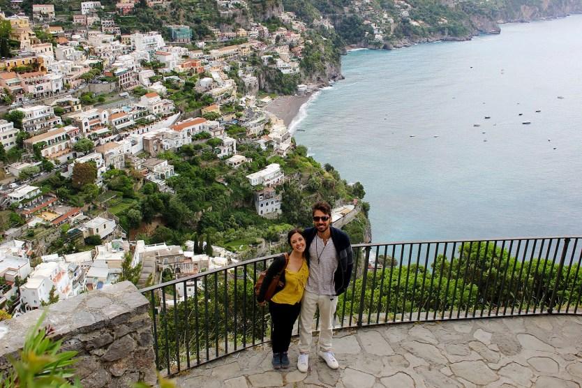 Lauren and Justin enjoying the Almafi Coast.