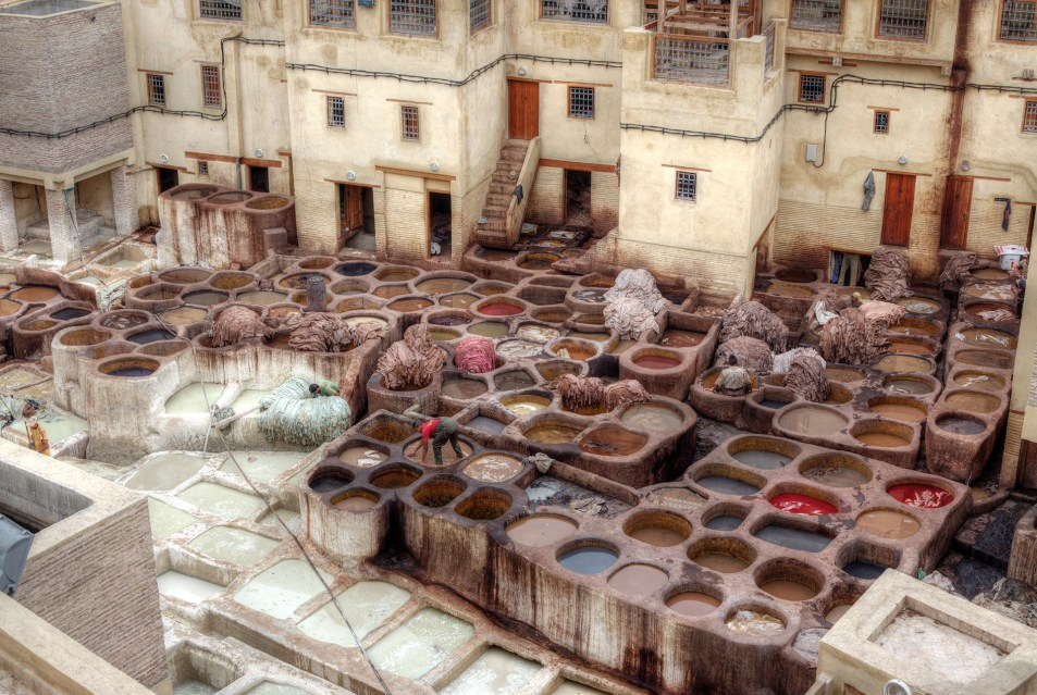 Fes Leather Tannery.