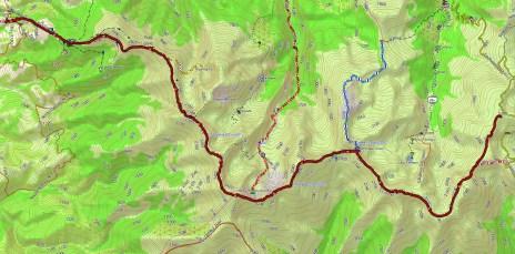 Trasa przez Parang ( openmaps.eu)