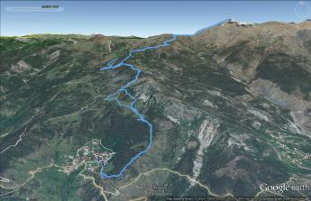 Trasa na Smolikas (Google Earth)