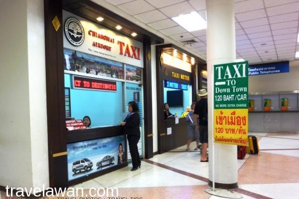 Tarif taxi ke sebagian besar daerah di kota Chiang Mai adalah 120 Baht (sekitar