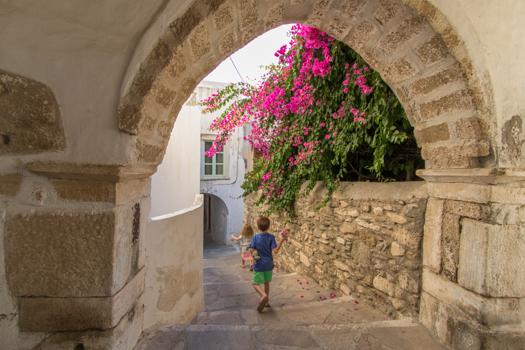 Naxos con niños: En la ciudad de Naxos