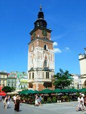 Turnul Primăriei în Piaţa Centrală din Cracovia, Polonia