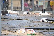 După bombardament
