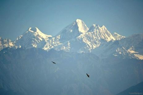 Dome Blanc 6830m, Dorje Lakpa 6988m, plus o pereche de șoimi