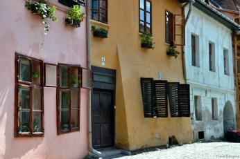 Pe străzi în Sighişoara