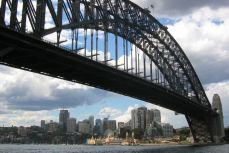 Sydney - Harbour Bridge, vedere spre Chatswood