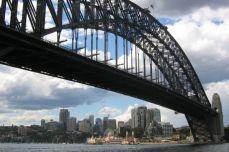 Sydney - Harbour Bridge, vedere spre Chatswood