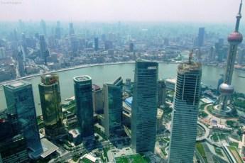Shanghai, văzut din turnul Jin Mao