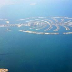 Dubai aerian - Palm Jumeirah Island şi Burj al Arab Hotel