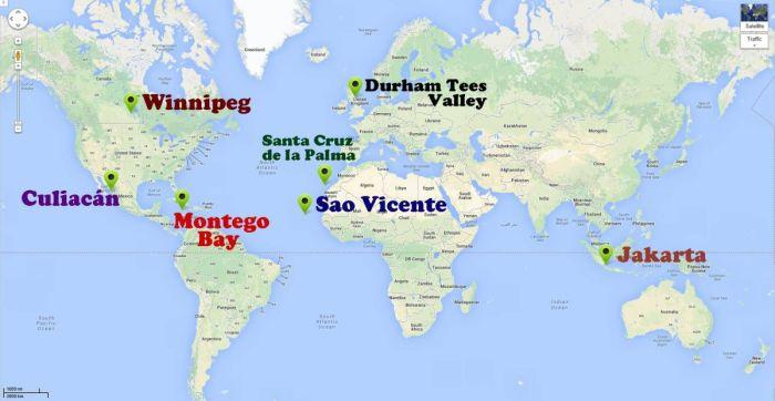 Harta destinatiilor EDEN