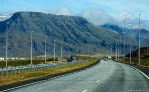 Ring Road la ieșirea din Reykjavik