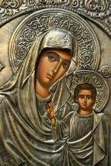 Icoană sculptată în argint