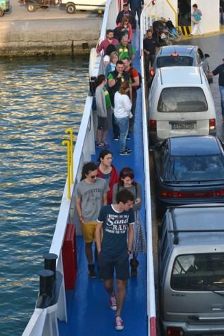 Îmbarcare pentru Corfu