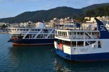 În port la Igoumenitsa